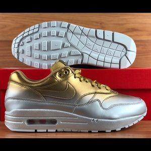 Nike Air Max 1 LX Metallic Gold Platinum Women's NWT